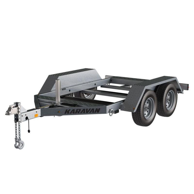 Karavan Trailer's 58 x 95 In. 7000# GVWR Industrial Trailer, model number WGT-7000-TEB-62