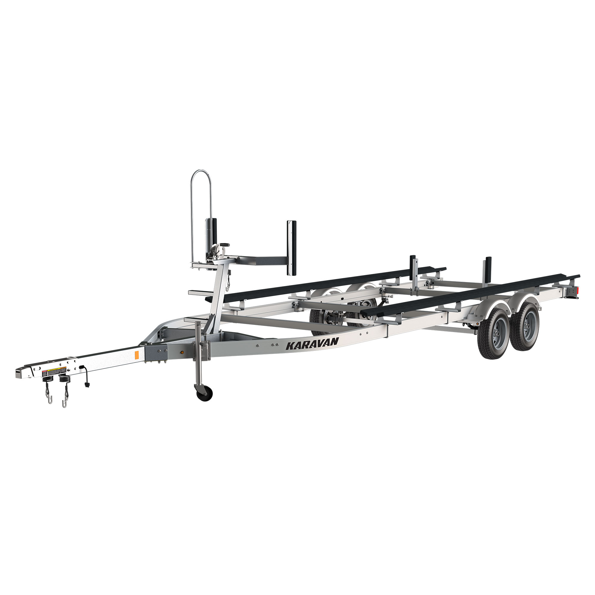 Karavan Trailer's Tandem Axel Aluminum Pontoon Trailer, model number KDPAT-1822