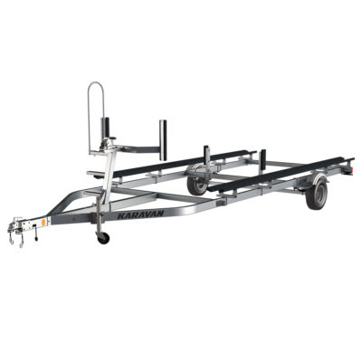 Karavan Trailer's Single Axel Small Pontoon Trailer, model number KDP-1618-GL