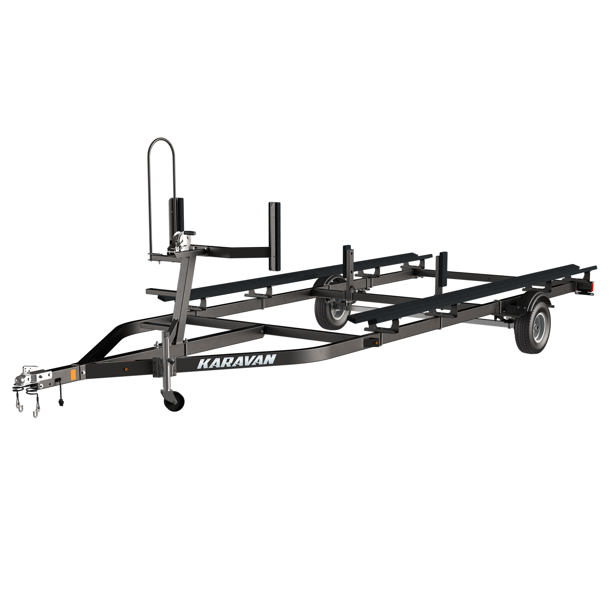 Karavan Trailer's Single Axel Midsize Pontoon Trailer, model number KDP-1822-BT