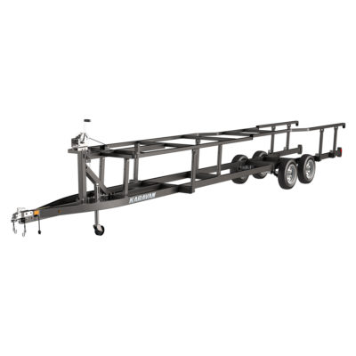 Karavan Trailer's Scissor Lift Pontoon Trailer, model number KPSHD-222