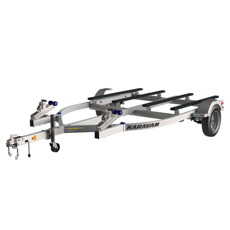 Karavan Trailer's Double Watercraft Aluminum Trailer w/Step Fender, model number WCA-2600-82