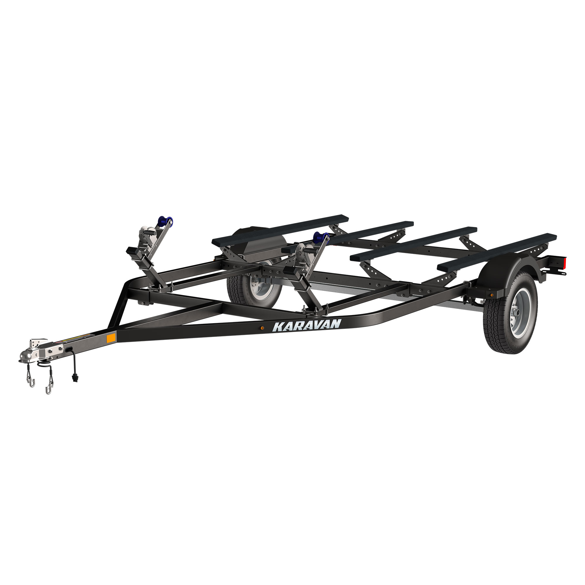 double watercraft aluminum trailer w   step fender