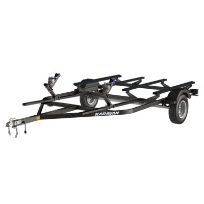 Karavan Trailer's Heavy Duty Double Watercraft Steel Trailer w/Step Fender, model number WC-2450-84-L-BT
