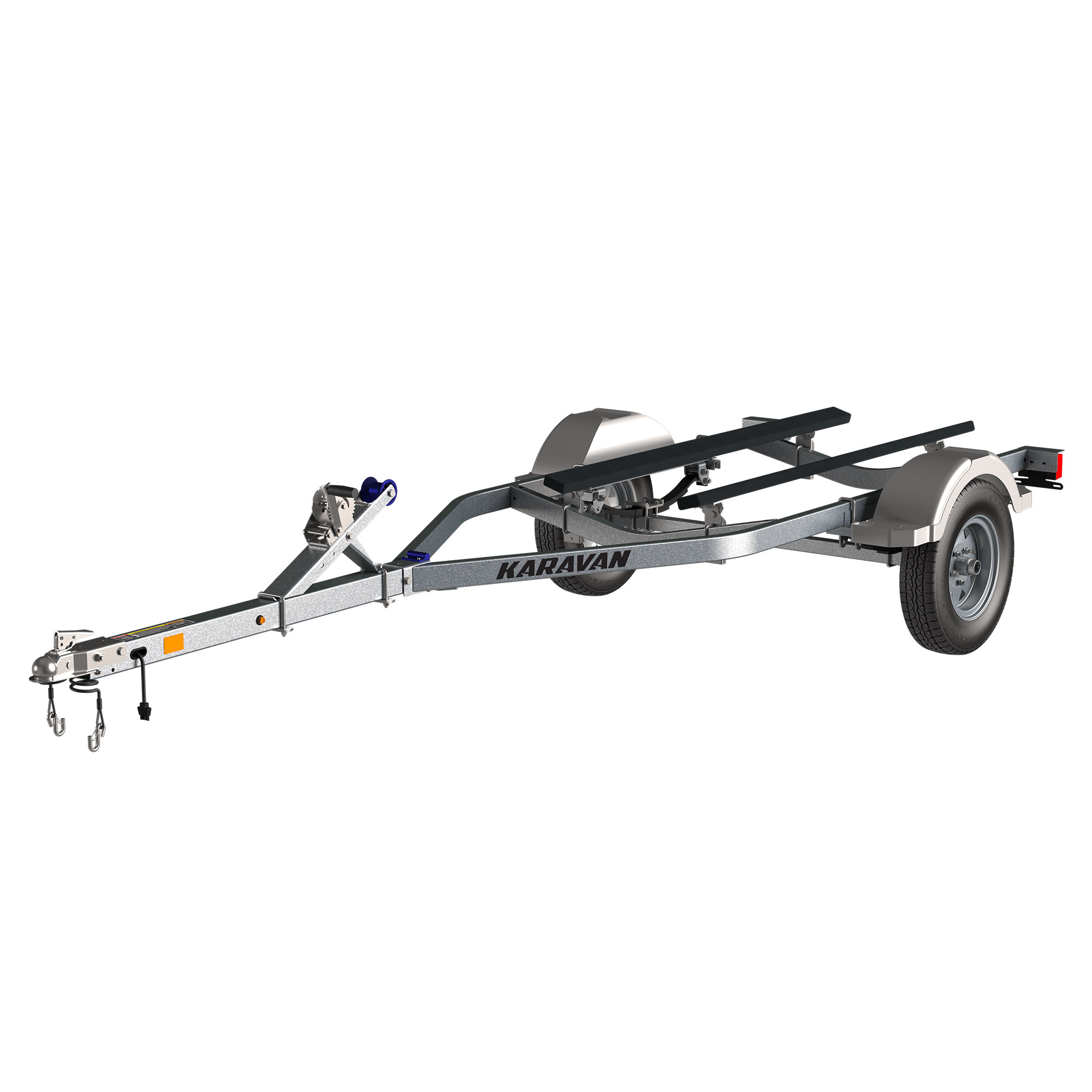 Karavan Trailer's Single Watercraft Steel Trailer w/Step Fender, model number WCE-1500-46-GL