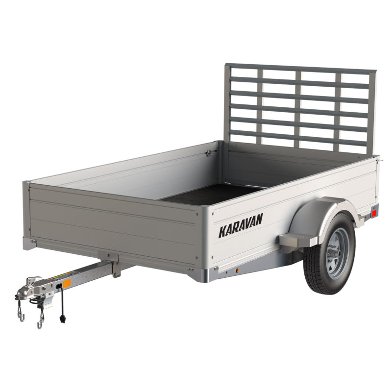 Karavan Trailer's 4.5 x 8 Ft. Anodized Aluminum Utility Trailer, model number MFF-2200-56-LP