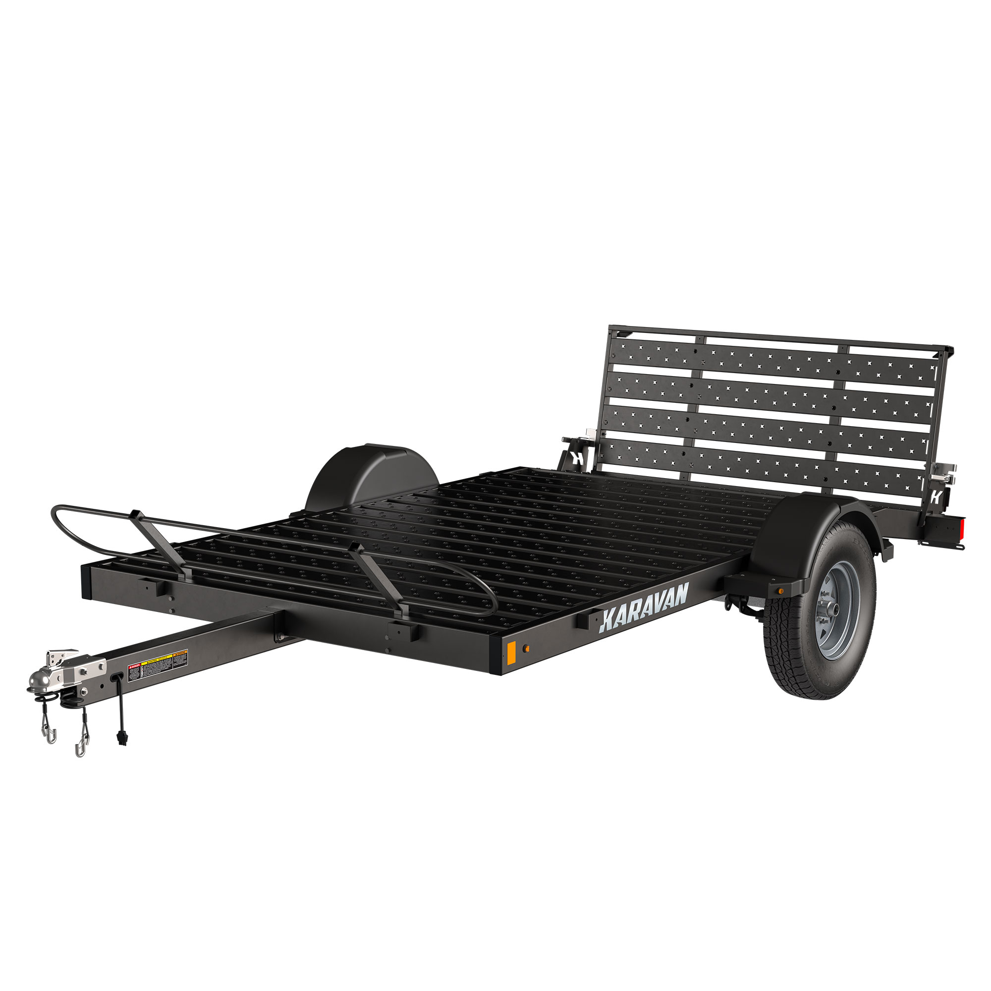 Karavan Trailer's 6 x 10 Ft. Steel Floor Utility Trailer, model number KUS-2990-72-10-BT