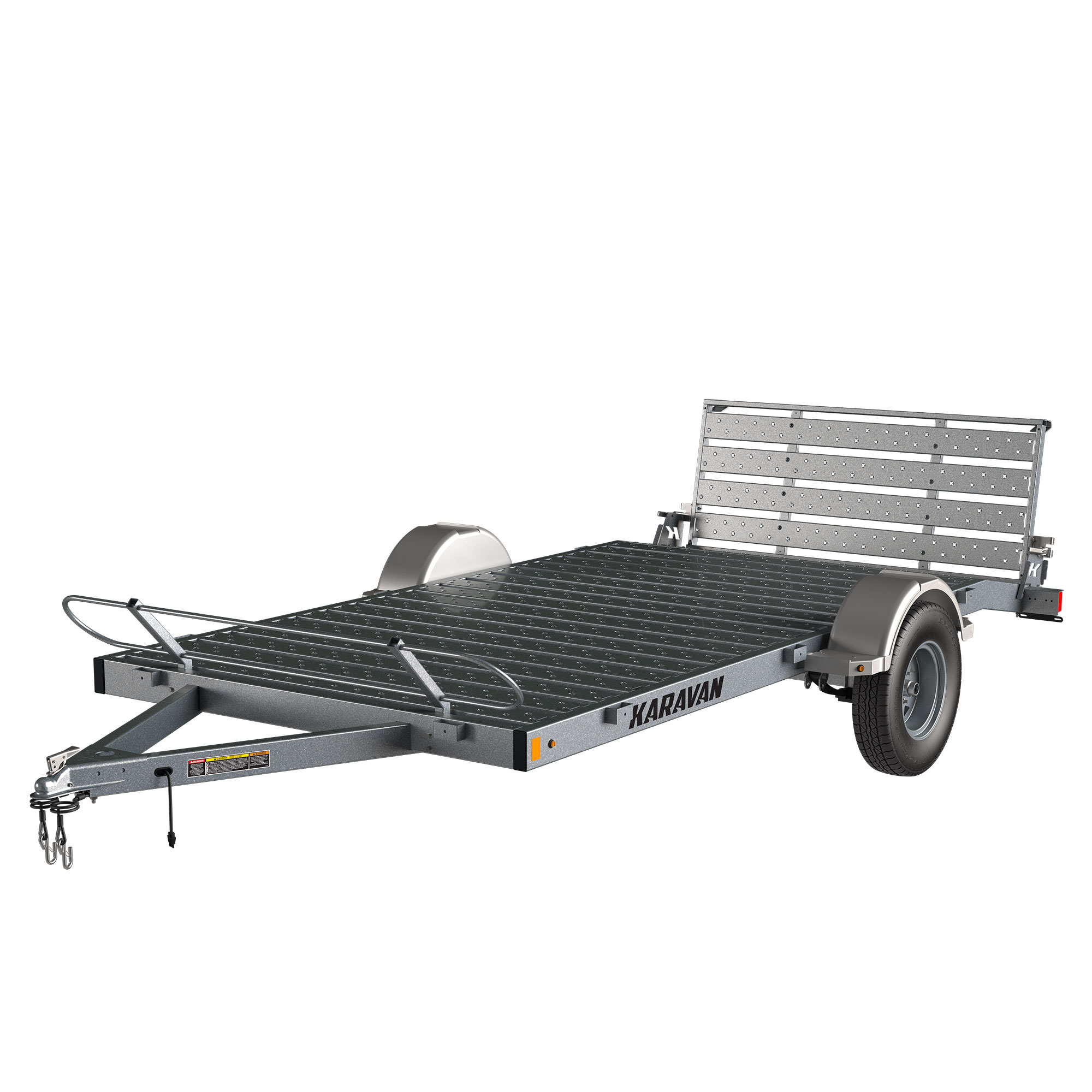 Karavan Trailer's 6 x 12 Ft. Steel Floor Utility Trailer, model number KUS-2990-72-12-GL