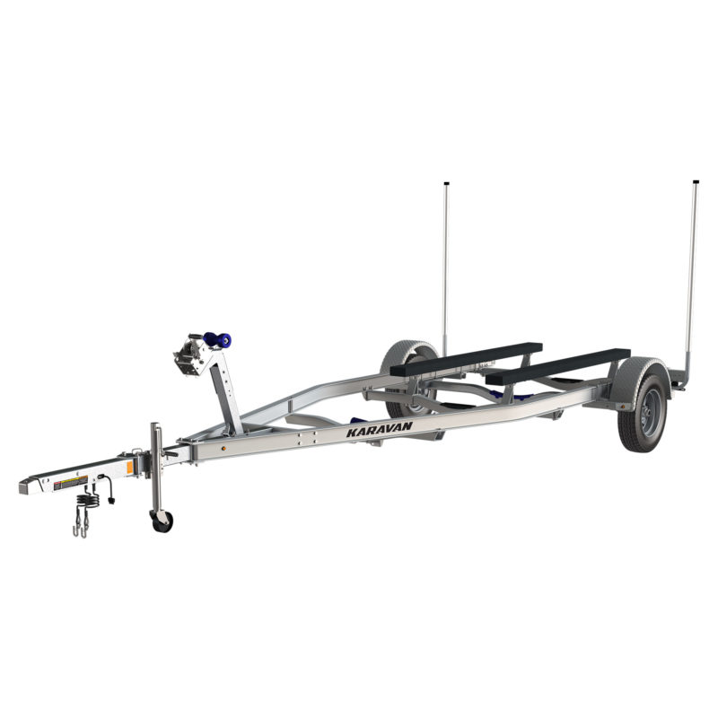 Karavan Trailer's Single Axel Aluminum 4100# Bunk Trailer, model number SL-4100-78