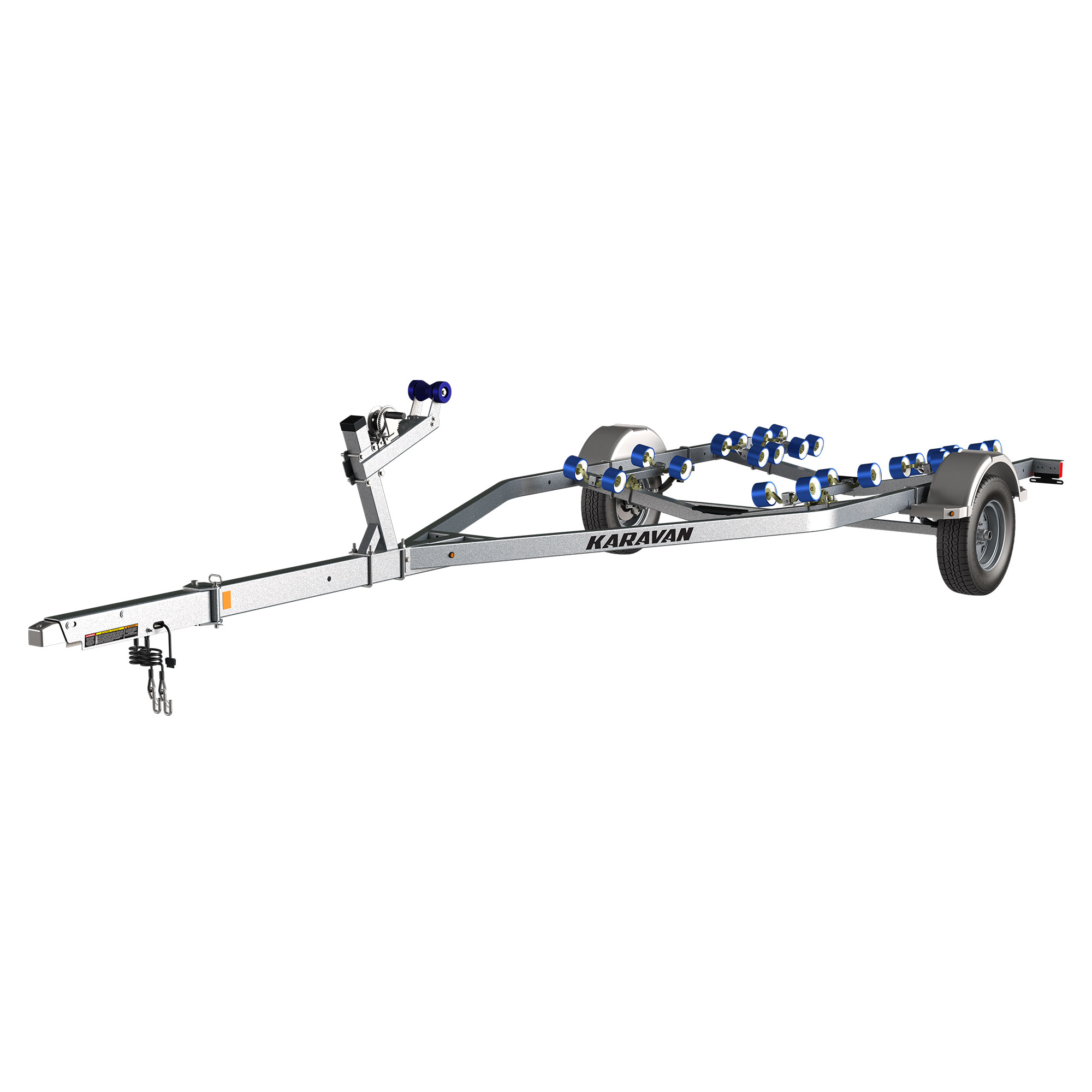 Karavan Trailer's Single Axel 3100# Roller Trailer, model number KKR-3100-78-S-GL