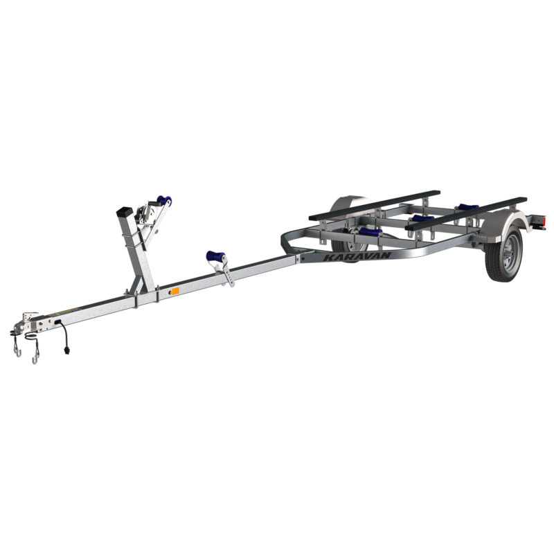 Karavan Trailer's Single Axel 1500# Long Bunk Trailer, model number KBL-1500-56-GL