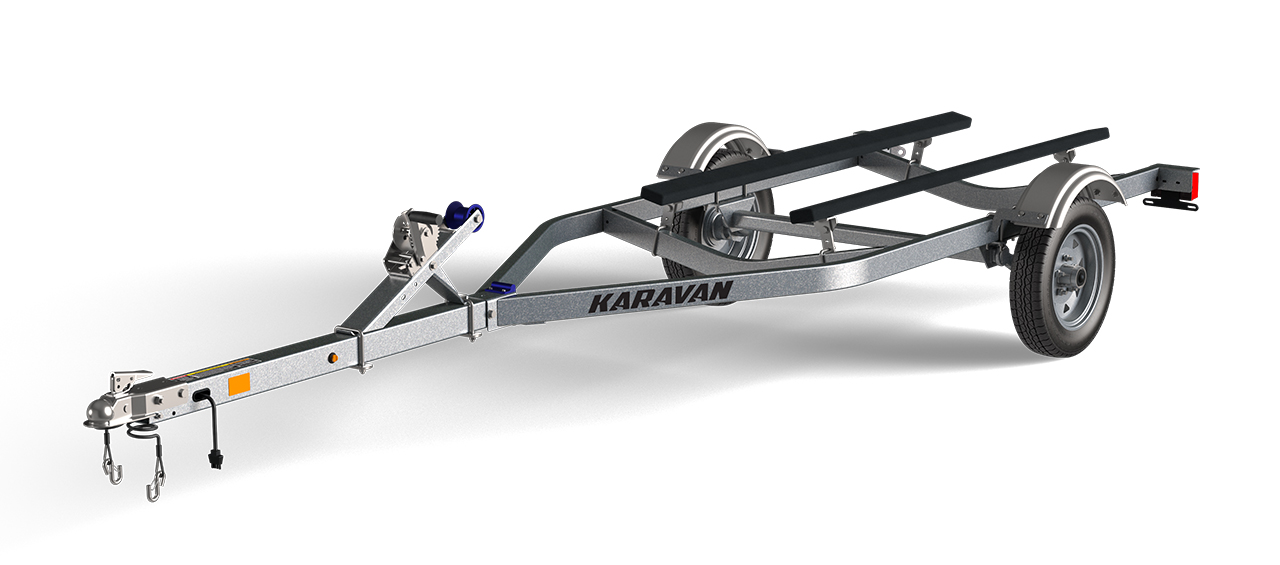 Karavan Trailer's Single Watercraft Low Profile Steel Trailer, model number WCE-1250-46-L-GL
